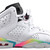 WindyCitySole - GIRLS JORDAN RETRO 6 WHITE RAINBOW GS