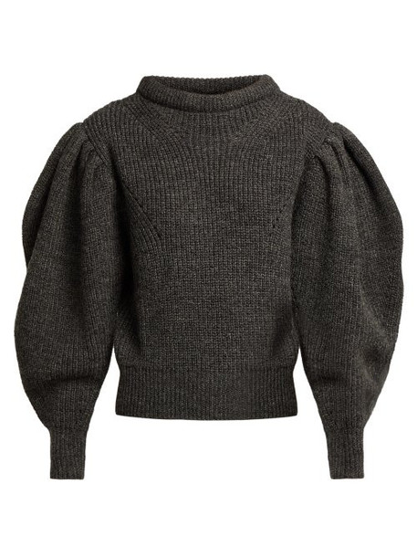 sweater wool sweater dark wool knit grey