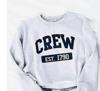 sweater grey crew sweater