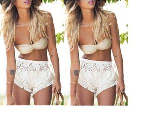 pattern lace shorts shorts lace