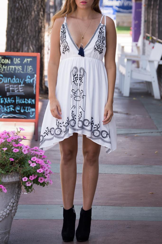 Festival bound cross back dress – luv mint