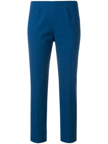 Piazza Sempione cropped women spandex cotton blue pants