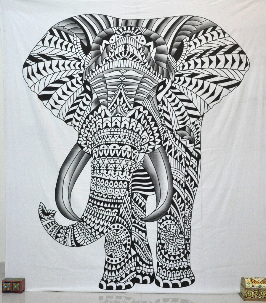 Elephant Wall Hanging elephant tapestry tapestries psychedelic wall hanging large beach
