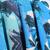 Blue Deep V Neck Vintage Floral Jumpsuit - Sheinside.com