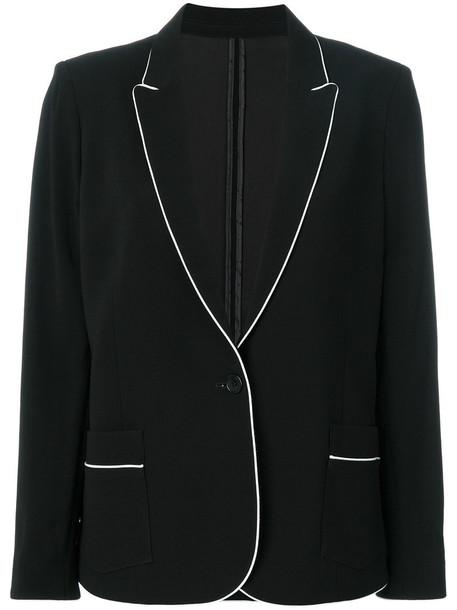 Zadig & Voltaire blazer women spandex black jacket