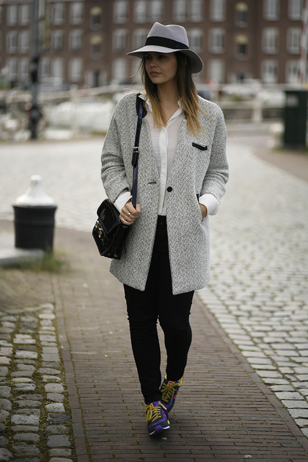 fashion zen shoes jeans blouse coat hat