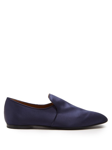 The Row loafers satin navy shoes