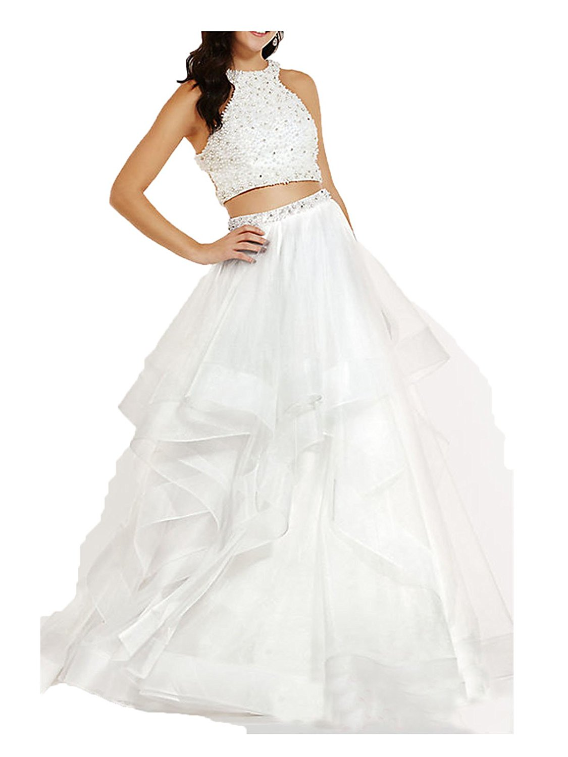 0390347f0af Amazon.com  Uryouthstyle 2017 2 Pieces A-line Quinceanera ...