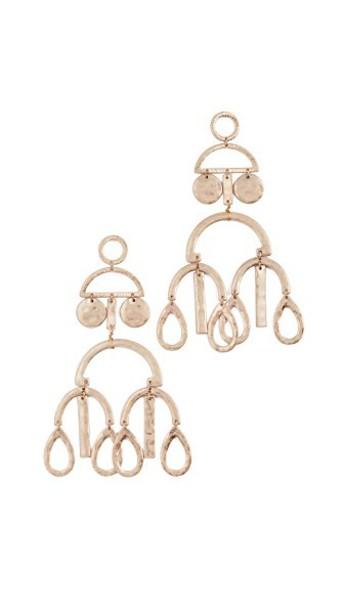 SHASHI earrings gold yellow jewels