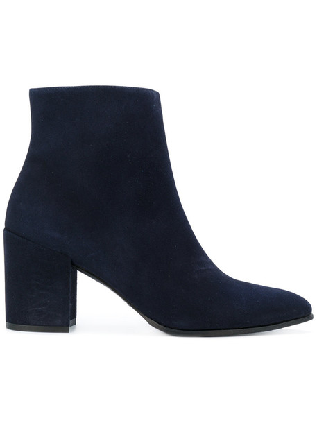 STUART WEITZMAN women trendy leather blue suede shoes