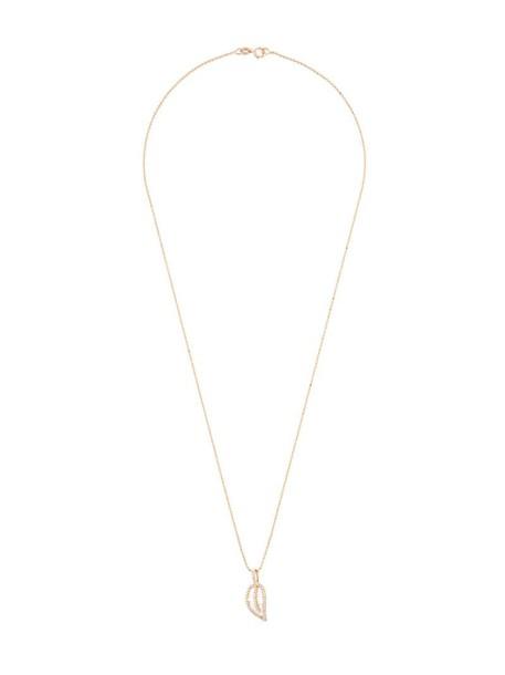 Anita Ko rose gold rose women necklace pendant gold grey metallic jewels