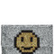 Valorie pixel smiley leather clutch with glitter