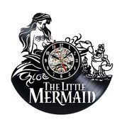 home accessory,little mermaid theme,little mermaid gifts,vinyl clocks,home decor,gifts for her,gifts for girlfriend,bedroom clock for girls,home decoration,vinyl record clocks,creative clocks,clock,wall clocks,beautiful,cute,home design,the little mermaid,little mermaid vinyl clock
