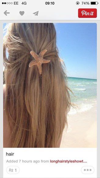 star jewels hair clip hair beach