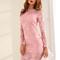 Vestido de tubo de encaje floral - rosa-spanish shein(sheinside)