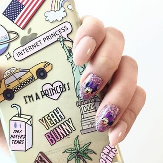 phone cover yeah bunny american flag american dream iphone case nails nail art iphone america usa new york city