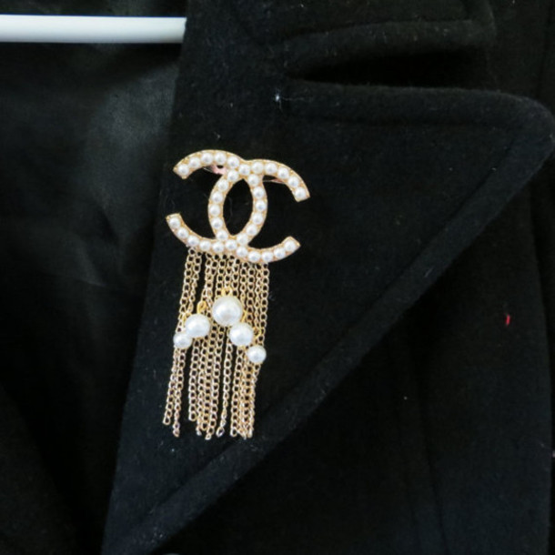 chanel inspired brooch. jewels chanel designer inspired fashion jewelry brooch pearl replica d