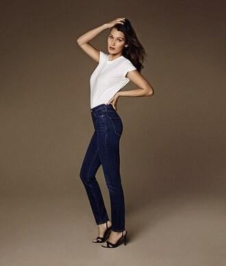 jeans top bella hadid sandals model