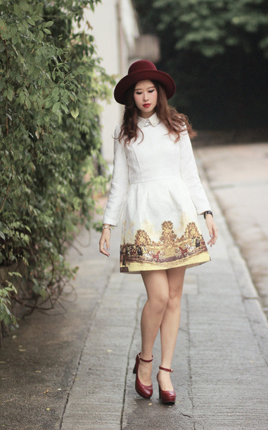 mellow mayo hat t-shirt dress jewels shoes sweater skirt bag
