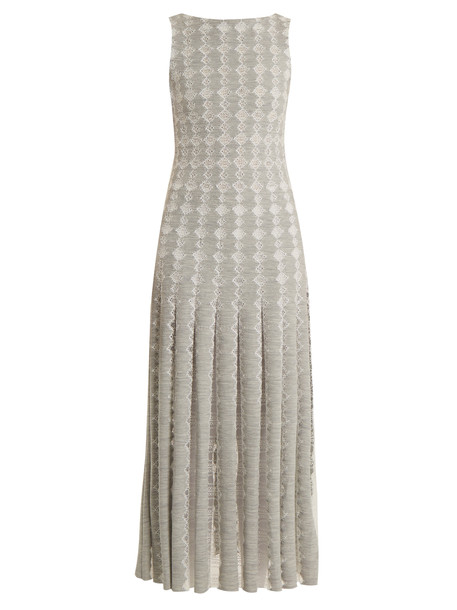 Huishan Zhang dress jersey dress lace wool grey
