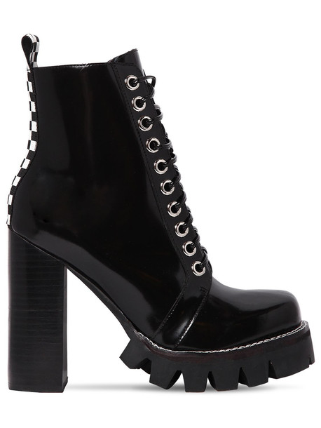 JEFFREY CAMPBELL 120mm Brushed Leather Boots in black