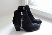 black shoes,black boots,vintage boots,boots,ankle boots,shoes,gold zipper