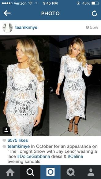 kim kardashian lace dress white dress