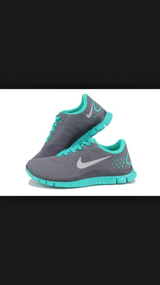 shoes grey shoes nike running shoes mint green shoes