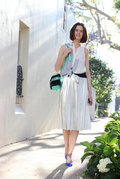 midi skirt blogger top bag by chill metallic