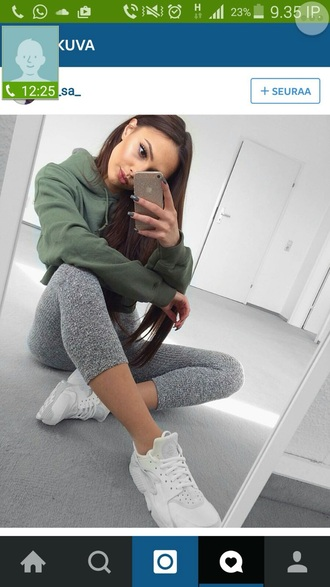 sweater army green iphone sportswear khaki leggings pants grey cute style stylish bottoms