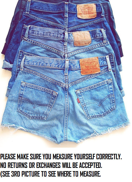 Vintage high waisted denim shorts all sizes door cohosupplies