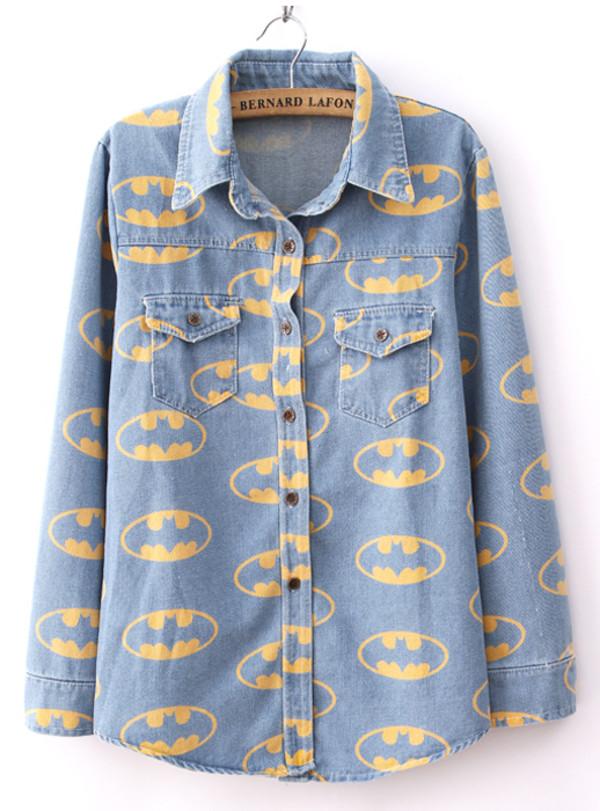 shirt best seller light blue cartton demin streetwear