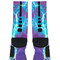 Kaboom teal purple custom nike elite socks - fresh elites