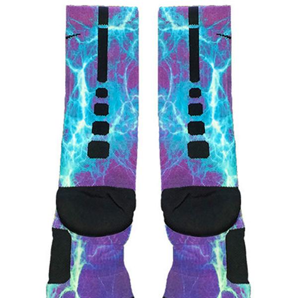 Kaboom Teal Purple Custom Nike Elite Socks - Fresh Elites - Teal Purple Custom Nike Elite Socks - Fresh Elites