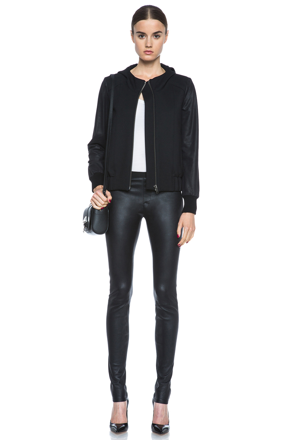 Helmut Lang|Stretch Leather Legging in Black