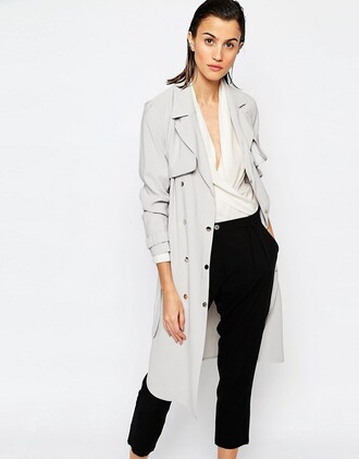 coat grey grey trench coat long trench coat trench coat