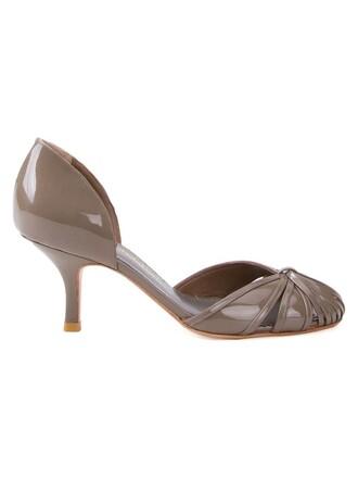 women pumps grey shoes