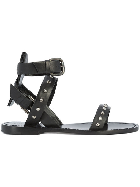 Thomas Wylde women sandals leather black shoes