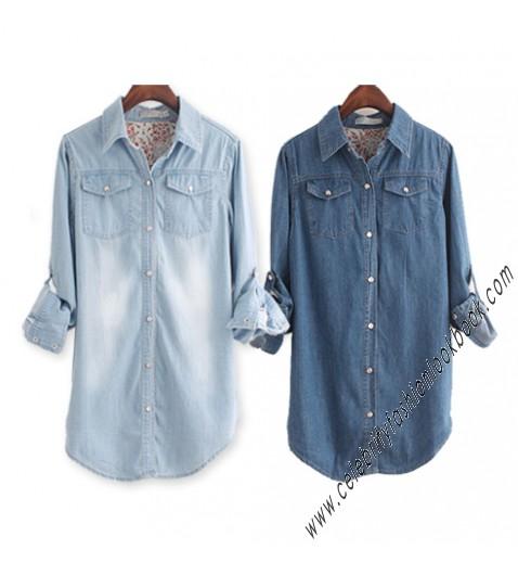 Vintage Denim Long Shirt