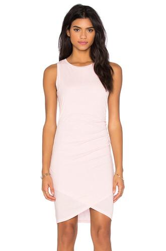 dress mini dress cross mini sleeveless pink