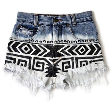 Custom Order. Ombre, Aztec, Tribal Shorts from etsy.com | FASHIOLISTA | love your style!