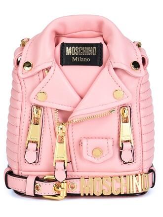 mini women backpack leather purple pink bag