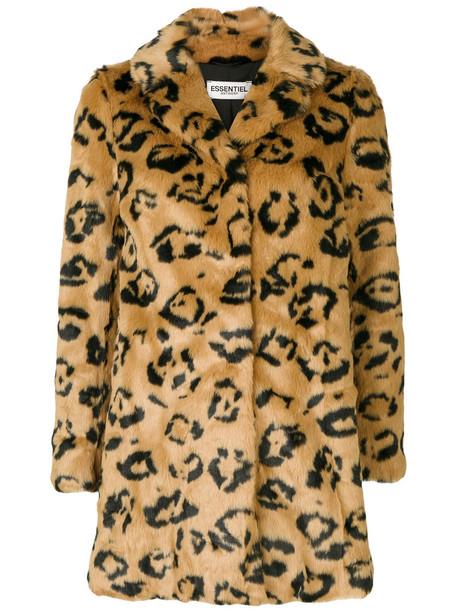 ESSENTIEL ANTWERP jacket faux fur jacket fur jacket fur faux fur women brown