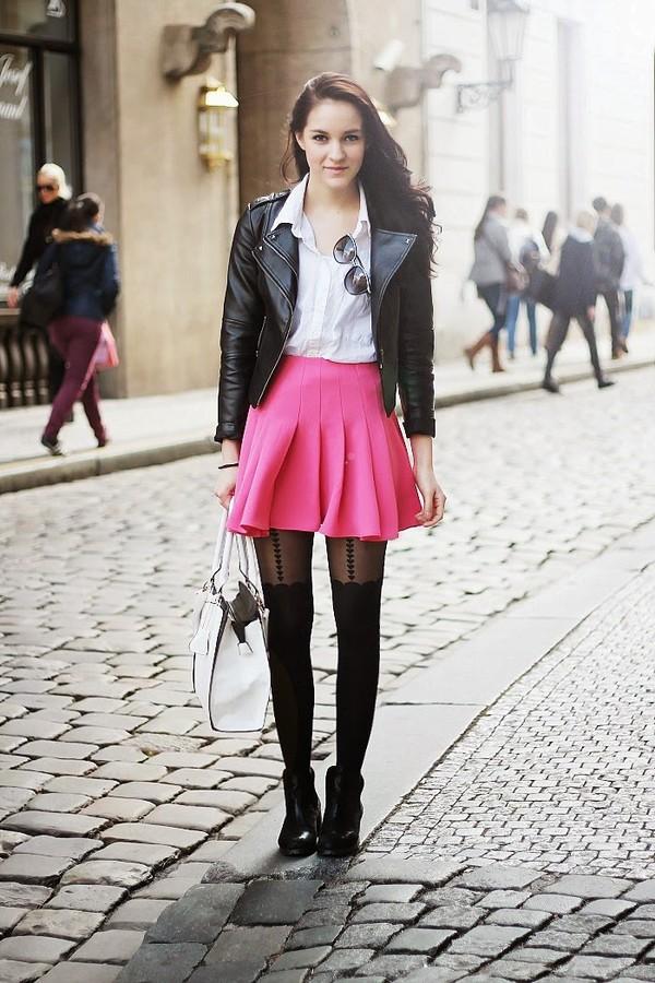 leona meliskova jacket skirt shoes bag