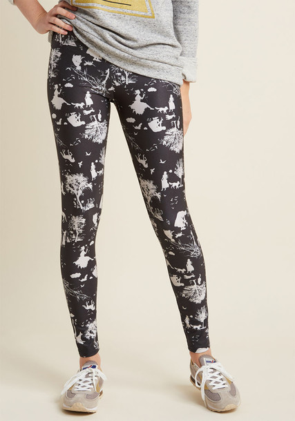 BLACK TOILE leggings black leggings style high print black pants