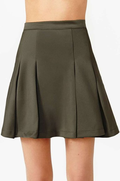 nastygal skirt on the outs skirt olive