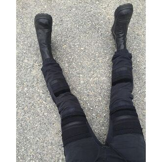 shoes zooji booties platform shoes black booties boots edgy fashion trendy fall outfits fashionista style cute unif