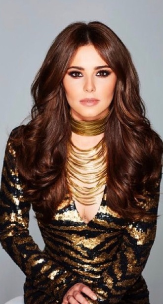 dress gold black cheryl sparkle beautiful cute sexy celebrity style