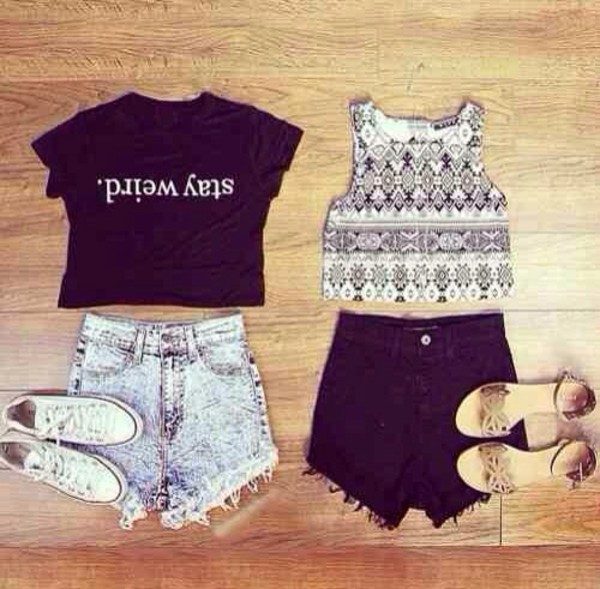 shorts shoes t-shirt