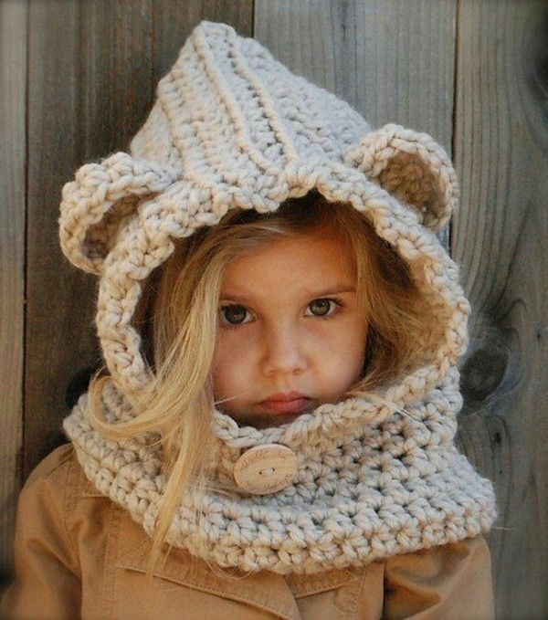 Animal Hoodie Knitting Pattern : Bear, Ewok, Hoodie, Cowl, Star Wars, Hand Knit, Animal Hat ...